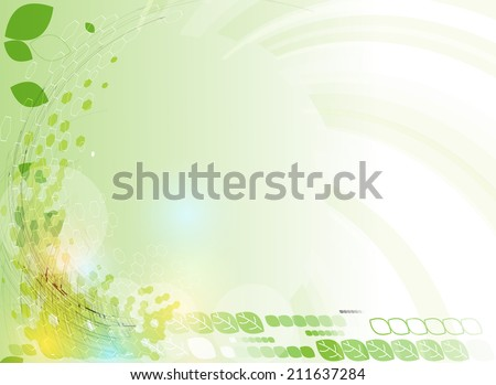 high tech eco green infinity computer technology concept background