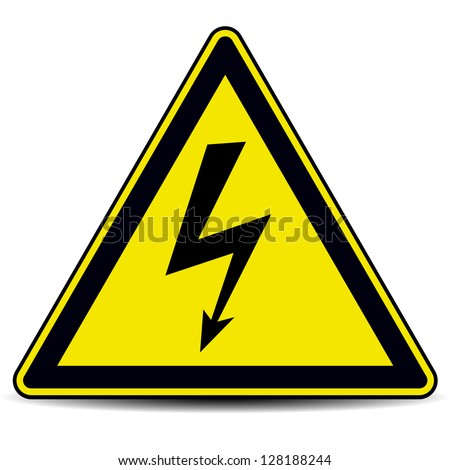 high voltage danger sign - stock vector