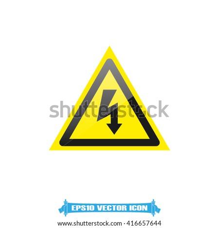 High voltage icon vector. - stock vector