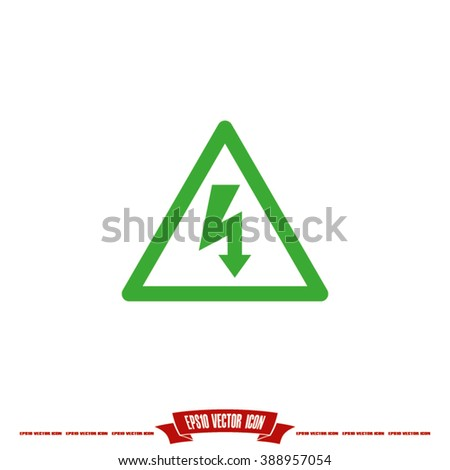 High voltage Icon Vector. High voltage Icon JPEG. High voltage Icon Picture. High voltage Icon Image. High voltage Icon JPG. High voltage Icon EPS. High voltage Icon AI. High voltage Icon Drawing - stock vector