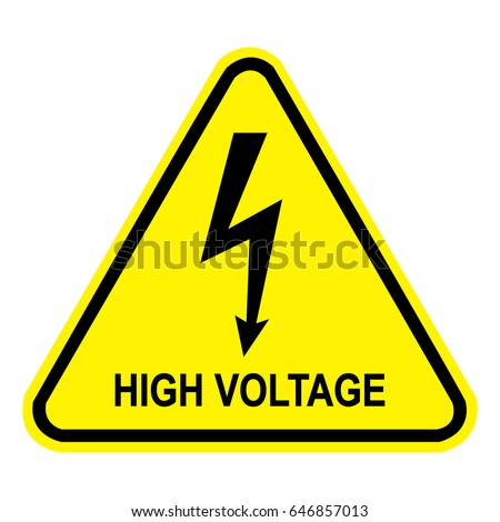 High Voltage Sign Safety Sign Danger Stock Vector Royalty Free