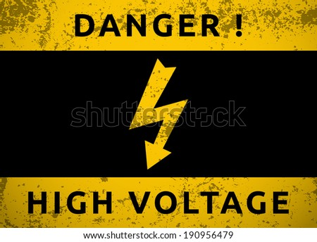 High Voltage Sign Vector Illustration Stock Vector Royalty Free