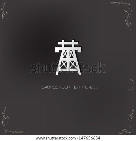High voltage symbol,vector - stock vector