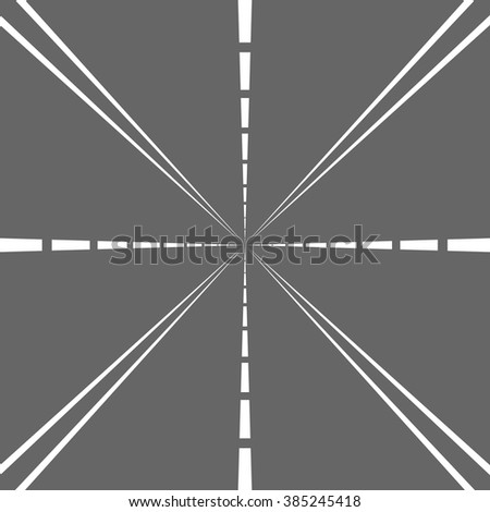 High way in perspective. Flat design for business financial marketing banking advertising web commercial concept cartoon illustration.