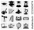 Higher Education icons set. Back to school. - stock vector