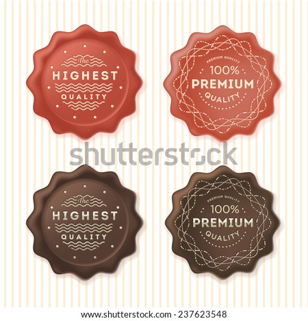 Highest quality and 100% premium labels. Badges template set. Vector design elements.  - stock vector