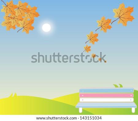 highlands Summer Landscape - stock vector