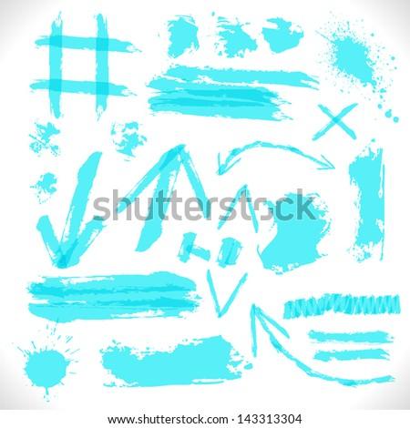 Highlighter Grunge Design Symbol. Vector Illustration. - stock vector