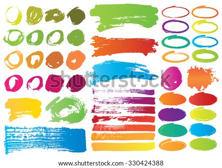 Highlights elements in multicolor. Stylish elements for design. Vector illustrations.