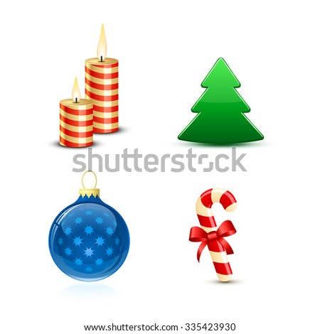 Highly detailed Christmas vector icons - stock vector