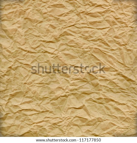 highly detailed crumpled paper vector - stock vector