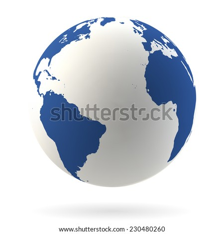 Highly detailed Earth globe