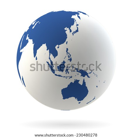 Highly detailed Earth globe - stock vector