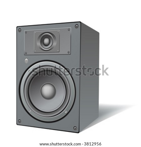 highly detailed illustration of a two ways loudspeaker