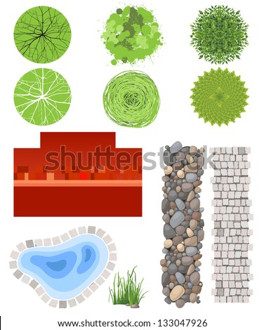 Highly Detailed Landscape Design Elements