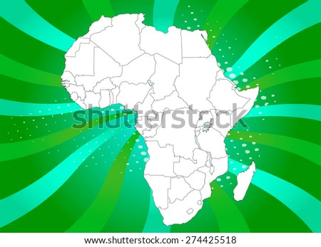 Highly Detailed Map of Africa with Captivating Background - Vectors - stock vector