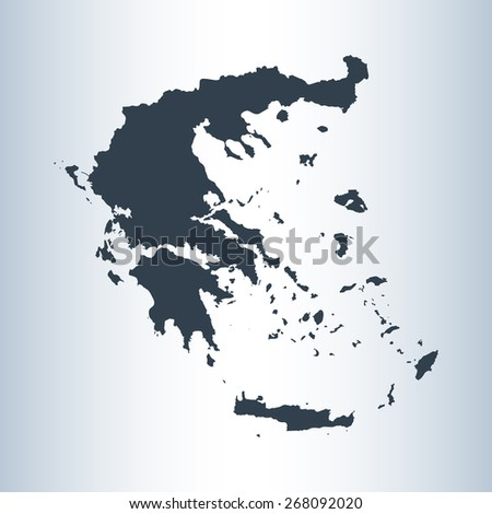 Highly detailed map of Greece - stock vector
