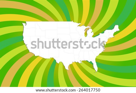Highly Detailed Map of The United States - All States Separable by borders - stock vector