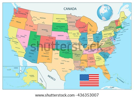 Political Map Of Usa Stock Images RoyaltyFree Images Vectors - Usa political map