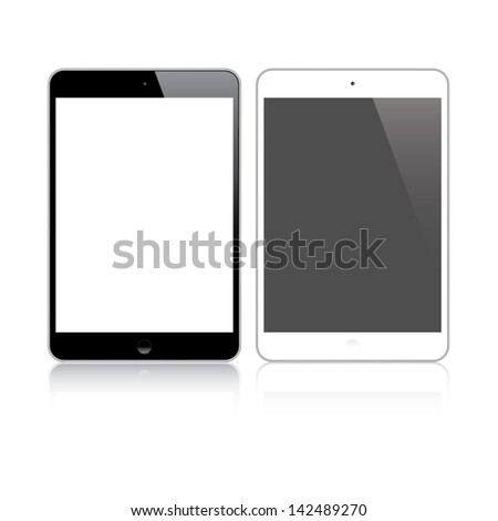 Highly detailed responsive small tablet vector - stock vector