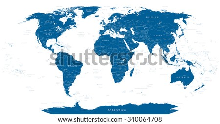 Highly Detailed World Map Vector Illustration. - stock vector