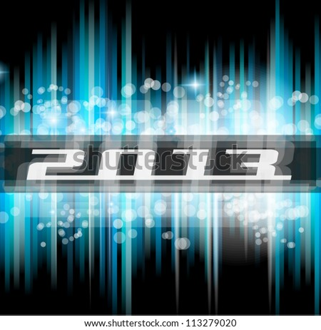 Hight Tech 2013 new year celebration poster. Ideal for club flyer or party invitation backgrounds. - stock vector