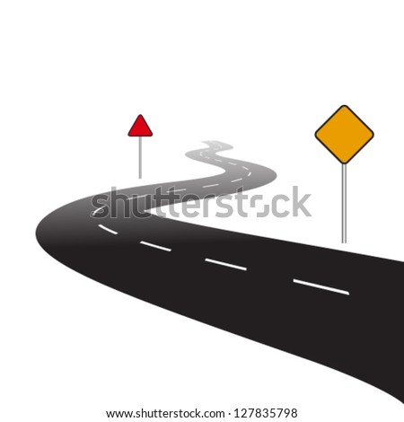 highway - stock vector