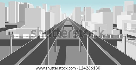 highways and roads in a modern city - stock vector