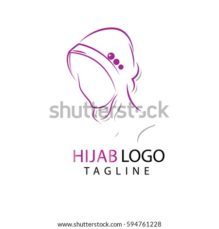 muslim traditional hijab islam woman sign stock vector
