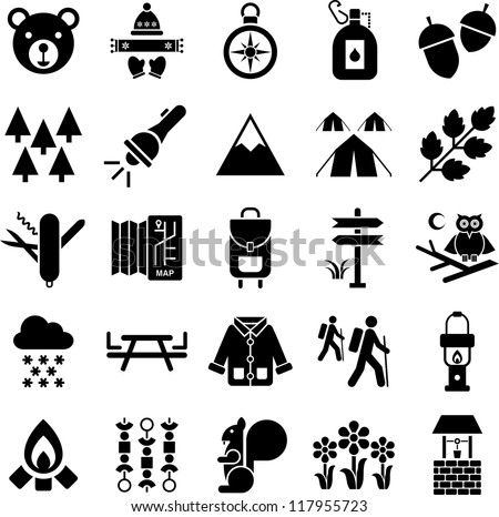 recreation icons stock images royaltyfree images