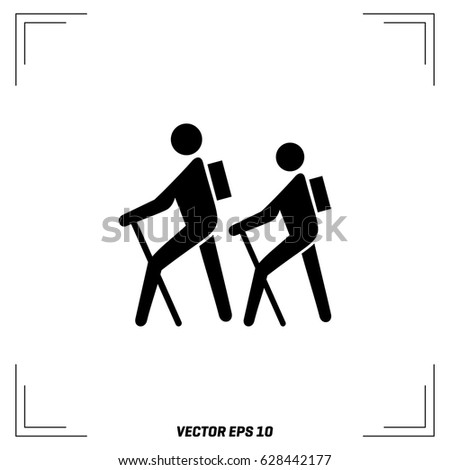 hiking icon stock images royaltyfree images amp vectors