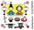 Hinamatsuri / the Dolls' Festival of Japan - stock vector