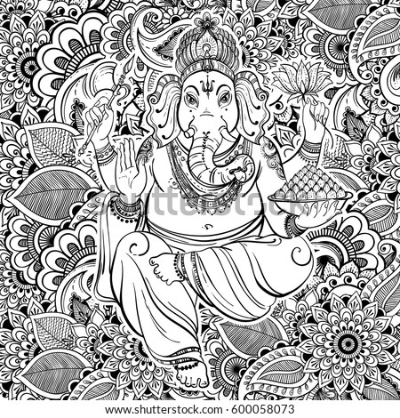hindu hand coloring pages - photo#11