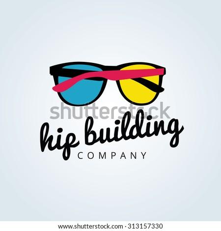 Hip building vector Logo Template. - stock vector