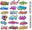 Hip hop urban graffiti - stock vector