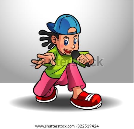 hiphop dancer 3 - stock vector