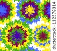 Hippie pattern with bright drops - stock photo
