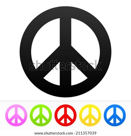 Hippie Peace Symbol Stock Vector 211357039 Shutterstock