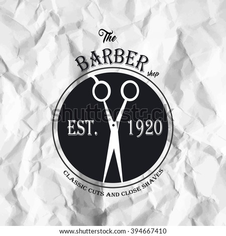 Hipster Barber Shop Business Card Design Stock Vector - Barber business card template