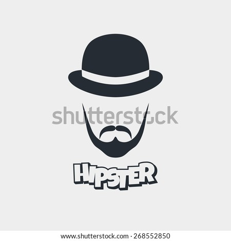 hipster bowl hat - stock vector