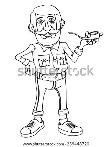 Hipster character design .  - stock vector