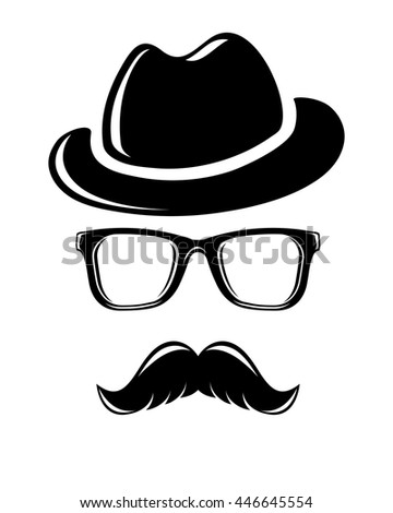 Hipster disguise set - stock vector