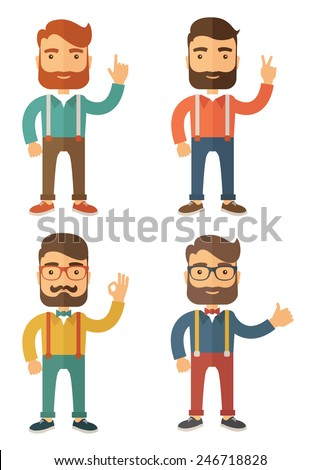 Hipster. Flat Vector Illustration. - stock vector