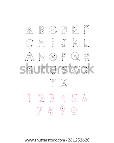 Hipster font, typeface, typography, typewriter, poster, type, text. Light, thin.