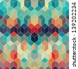 Hipster geometric background made of cubes.Retro hipster color mosaic background. Square composition with geometric shapes.Geometric hipster retro background with place for your text. Retro background - stock vector