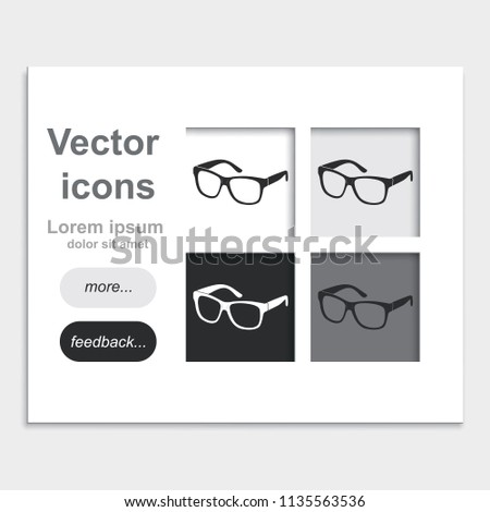 Hipster Glasses Placed On Web Page Stock Vector (Royalty Free ...