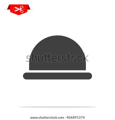 hipster hat icon - stock vector