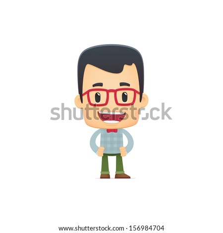 hipster in various poses for use in advertising, presentations, brochures, blogs, documents and forms, etc. - stock vector