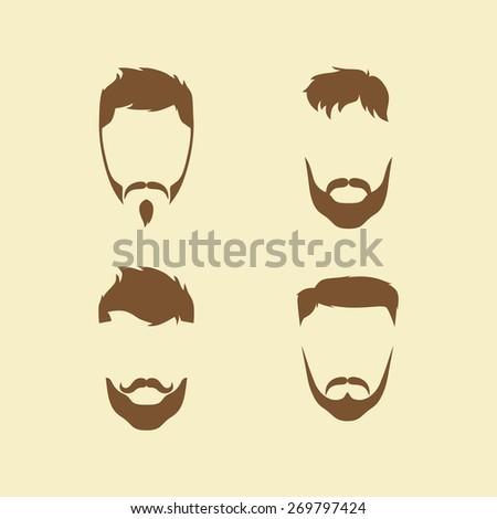 hipster male art - stock vector