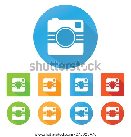 Hipster photo or camera icon - stock vector